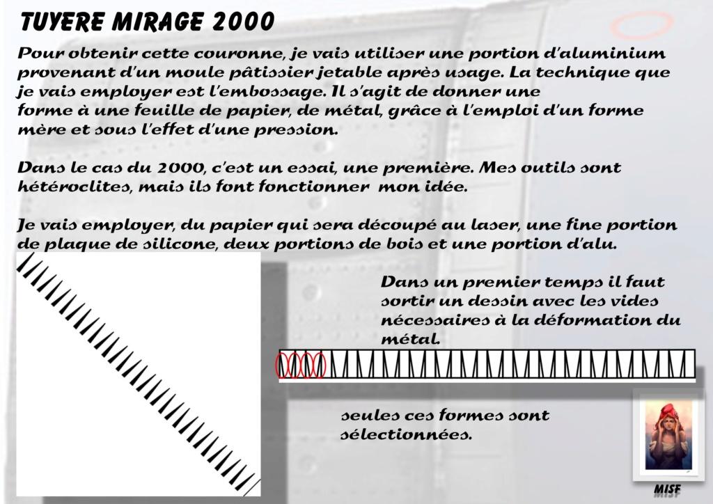 Tuyère Dassault Mirage 2000 - Scratch - Pour base Heller  Tuyere40