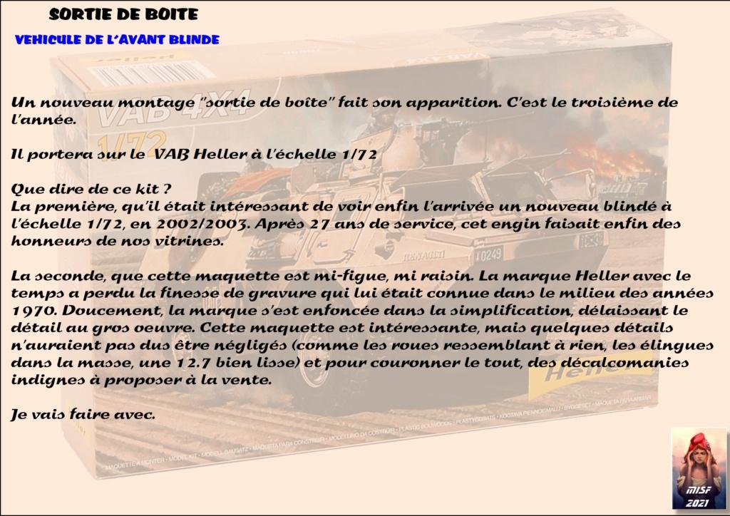 From the box - SAVIEM VAB 4x4 - Heller - 1/72ème Réf 79898 *** Terminé en pg 3 Vab_0011