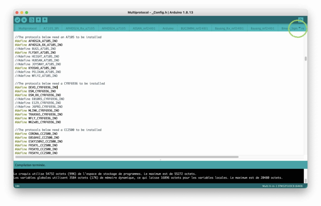 [Tuto] Flashage du module URUAV TMX5 Lite (multi-protocoles) - Page 2 Arduin10