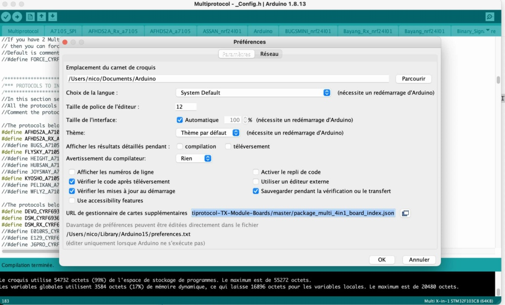 [Tuto] Flashage du module URUAV TMX5 Lite (multi-protocoles) - Page 2 Arduin13