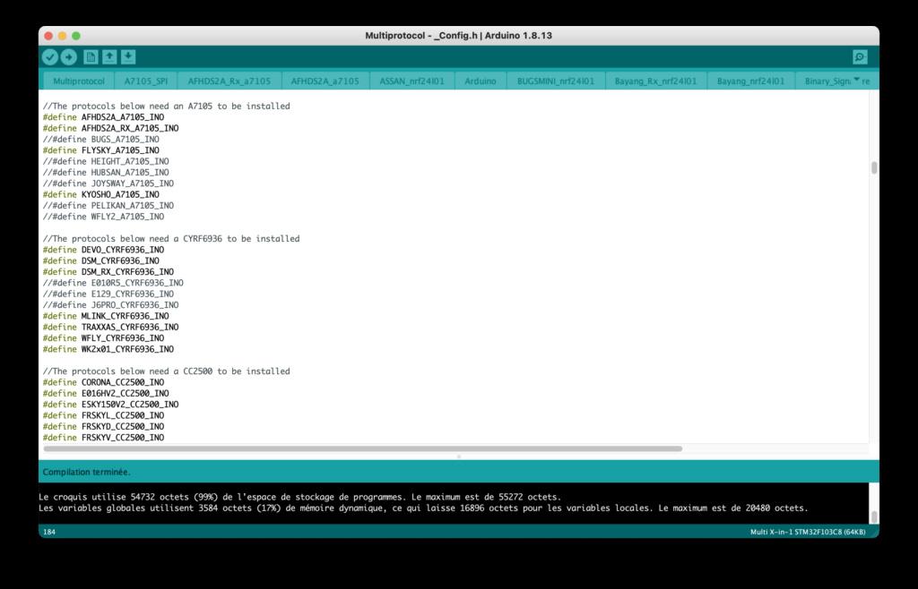 [Tuto] Flashage du module URUAV TMX5 Lite (multi-protocoles) - Page 2 Compil10