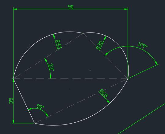 請教如何畫出白色的圖形(不需要標註) Su10