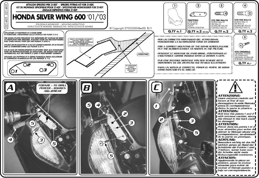 Swing windscreen D214ki10