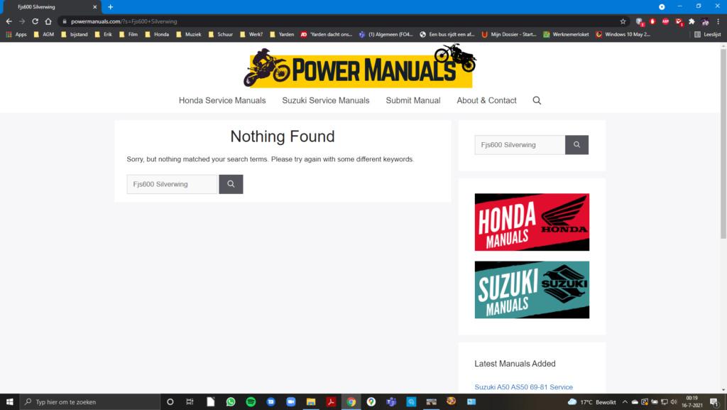 Free Honda SERVICE Manuals Scherm10