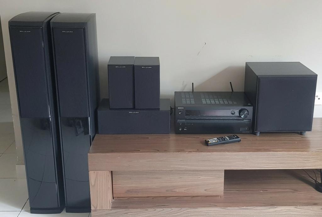 Home Theater Set Onkyo TX-NR646 + Wharfedale Speaker (Used) 110