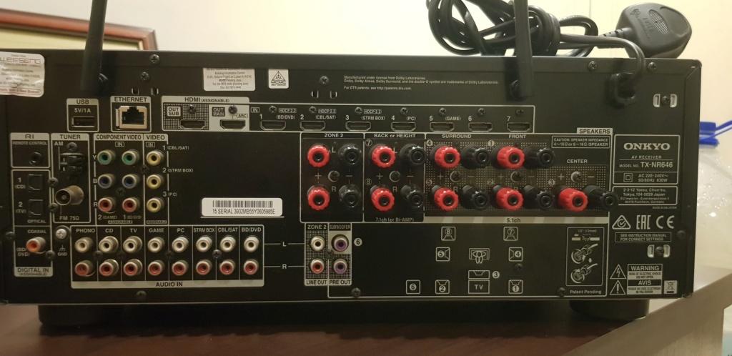 Home Theater Set Onkyo TX-NR646 + Wharfedale Speaker (Used) 710