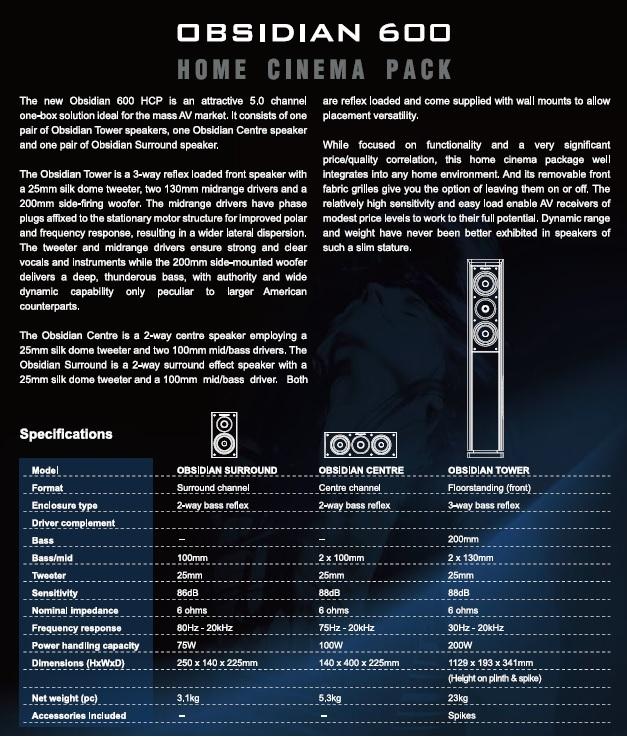 Home Theater Set Onkyo TX-NR646 + Wharfedale Speaker (Used) Obsidi10