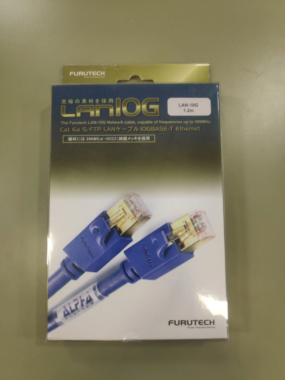 Furutech LAN-10G ethernet network cable(NEW) Img_2066