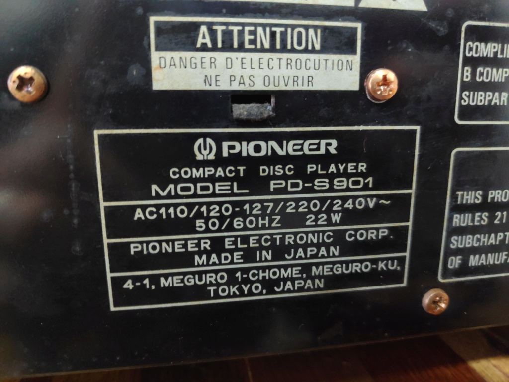 Pioneer PD-S901 stable platter cd player(used) Img_2070