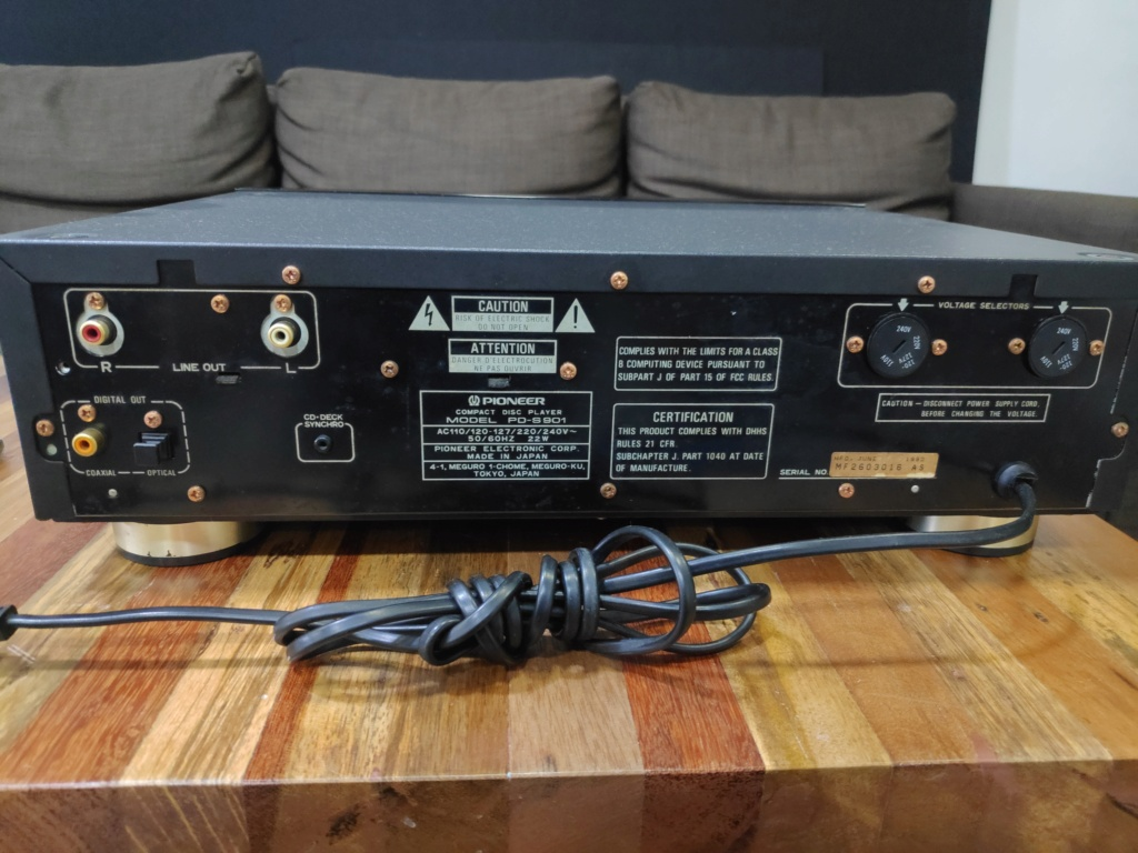 Pioneer PD-S901 stable platter cd player(used) Img_2072