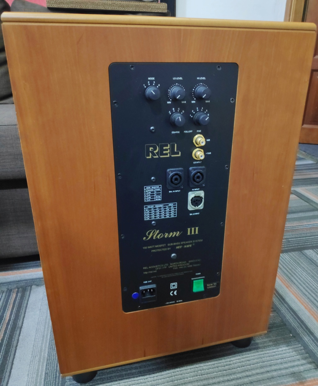 """Rel Storm III 10"""" Subwoofer (USED) Img_2098"""