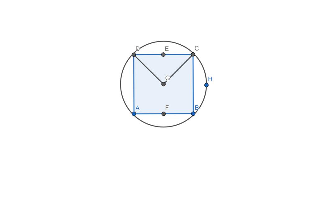 Circunferência, arco e inscrições Geogeb10