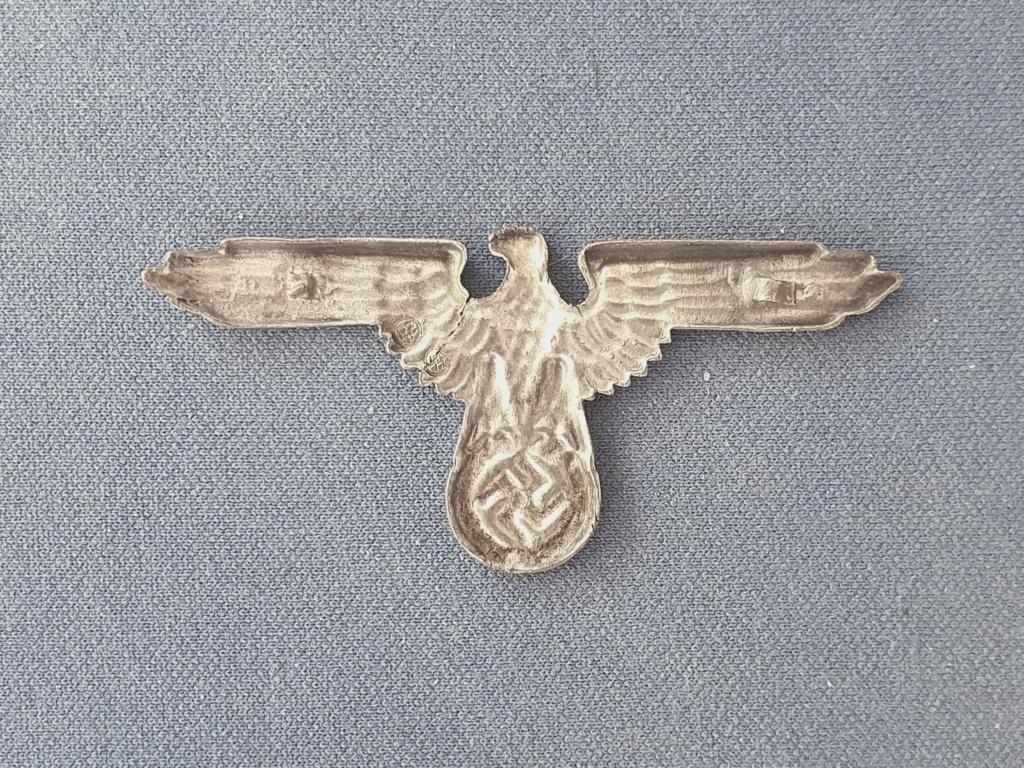 Aigle de casquette allemande WW2 20210915
