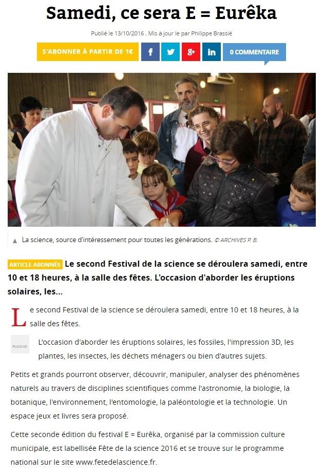 FESTIVAL DE LA SCIENCE samedi 15 octobre 2016 So_13110