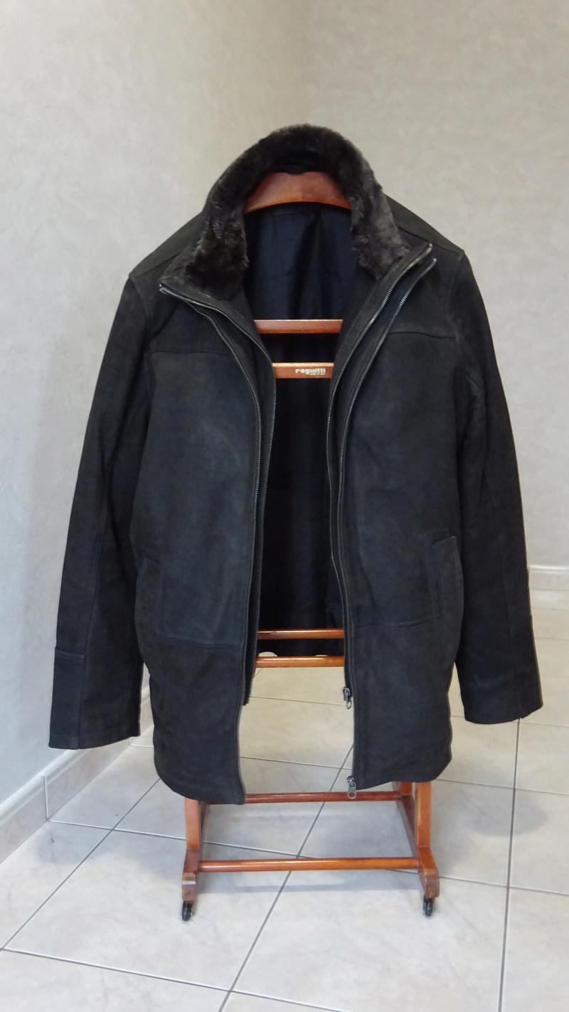Manteau CUIR brun, neuf, HOMME XL Dsc06311