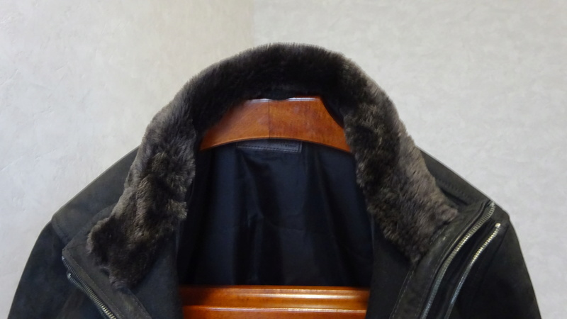 Manteau CUIR brun, neuf, HOMME XL Dsc06313