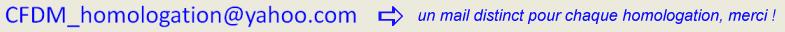 Instructions pour homologuer un vol 16110212