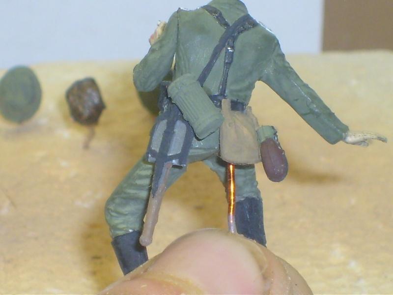 peinture - peinture figurines Motard14