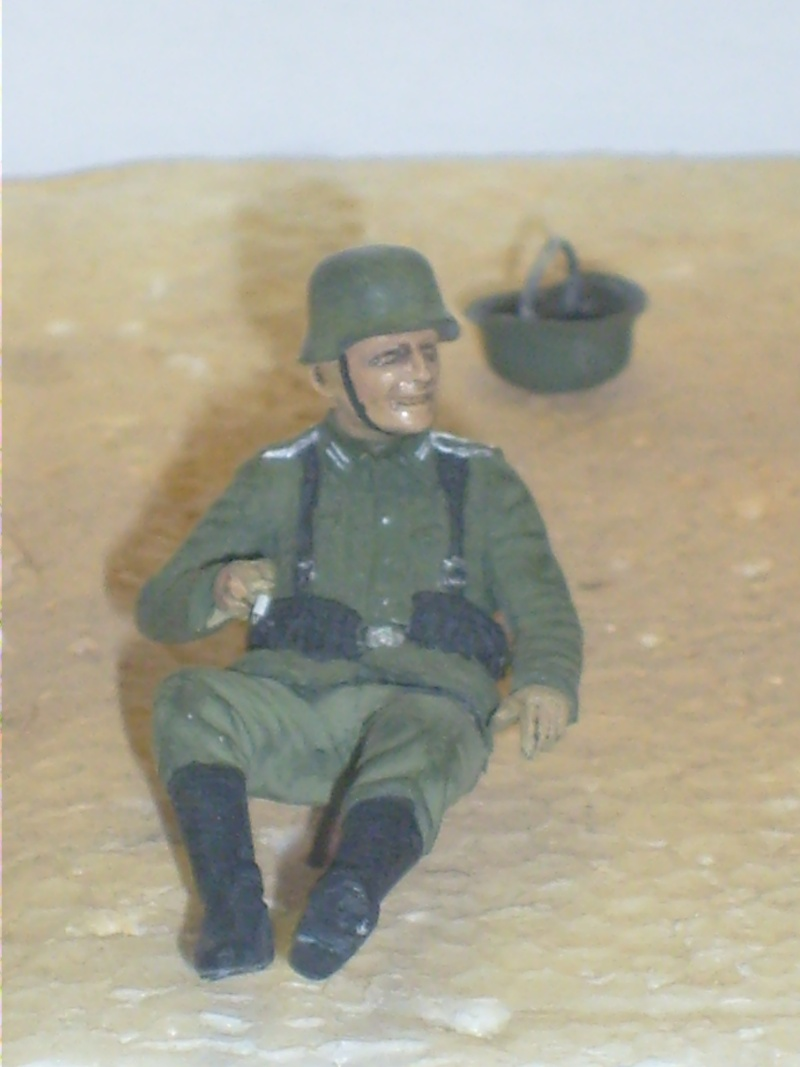 peinture - peinture figurines Motard15