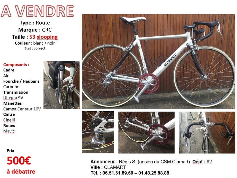 A vendre Vélo route Taille 53 blanc Affich14