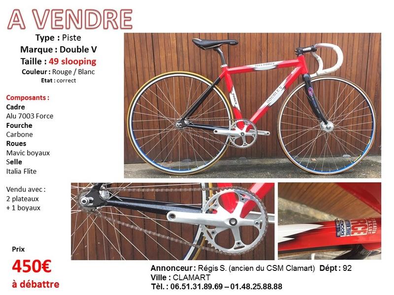 A vendre Velo Piste Taille 49 slooping Rouge et Blanc Saboti14
