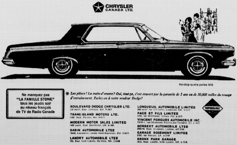 Les anciens dealers Mopar du Québec - Page 7 63dodg10