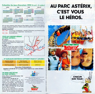 Dépliants, plans, tickets du Parc Astérix 1995_p10