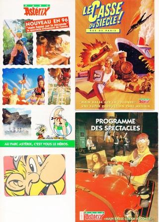 Dépliants, plans, tickets du Parc Astérix 1996_p10