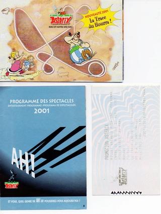 Dépliants, plans, tickets du Parc Astérix 2001_p11