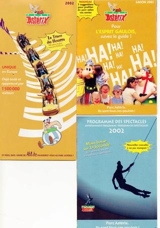 Dépliants, plans, tickets du Parc Astérix 2002_p10