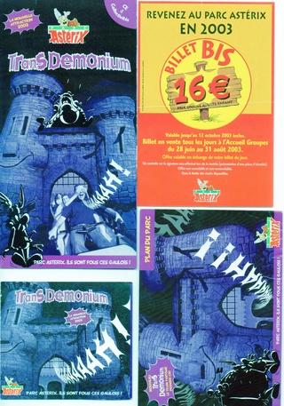 Dépliants, plans, tickets du Parc Astérix 2003_p10