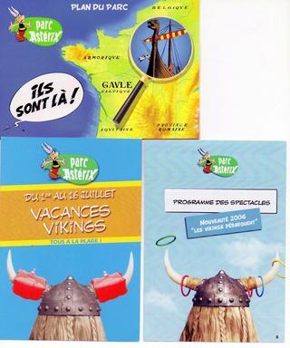 Dépliants, plans, tickets du Parc Astérix 2006_p11