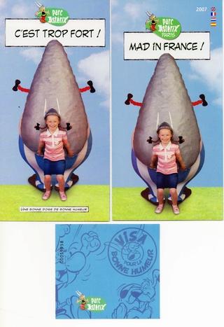Dépliants, plans, tickets du Parc Astérix 2007_p11