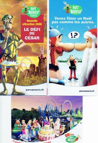 Dépliants, plans, tickets du Parc Astérix 2008_p10