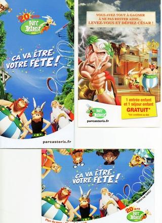 Dépliants, plans, tickets du Parc Astérix 2009_l10