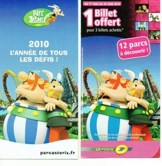 Dépliants, plans, tickets du Parc Astérix 2010_p10