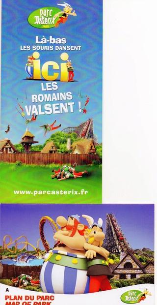 Dépliants, plans, tickets du Parc Astérix 2011_p10