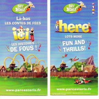 Dépliants, plans, tickets du Parc Astérix 2011_p11
