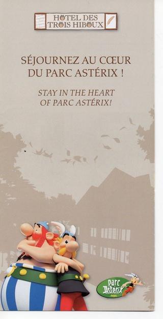 Dépliants, plans, tickets du Parc Astérix 2013_h10