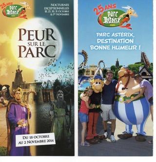 Dépliants, plans, tickets du Parc Astérix 2014_p11