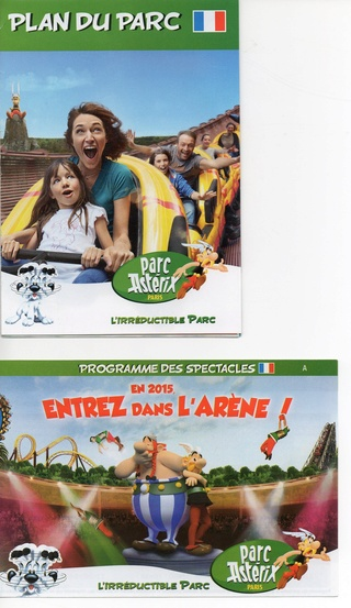Dépliants, plans, tickets du Parc Astérix 2015_p10