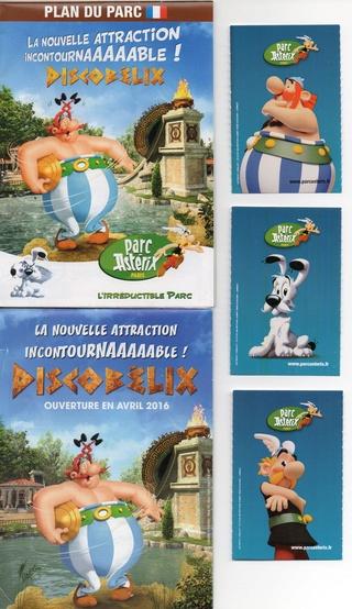 Dépliants, plans, tickets du Parc Astérix 2016_p11