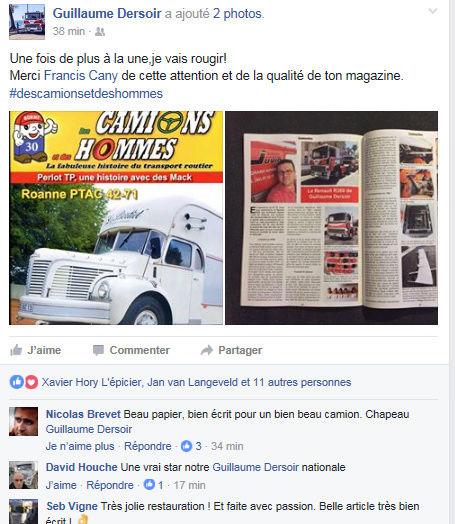 Le numéro 30 Des Camions et des Hommes en kiosque samedi ! Facebo10