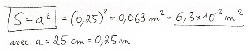 Calculs de surfaces, volumes et périmètres 5010