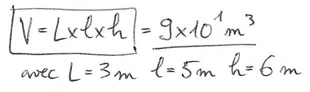 Calculs de surfaces, volumes et périmètres 5810
