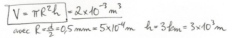 Calculs de surfaces, volumes et périmètres 6110