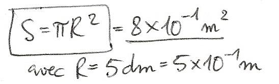 Calculs de surfaces, volumes et périmètres 6610