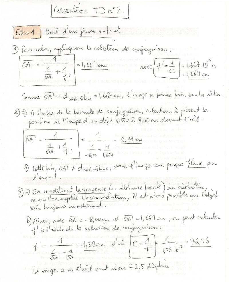 Corrigé TD n°2 : Modélisation de l'oeil Numyri15