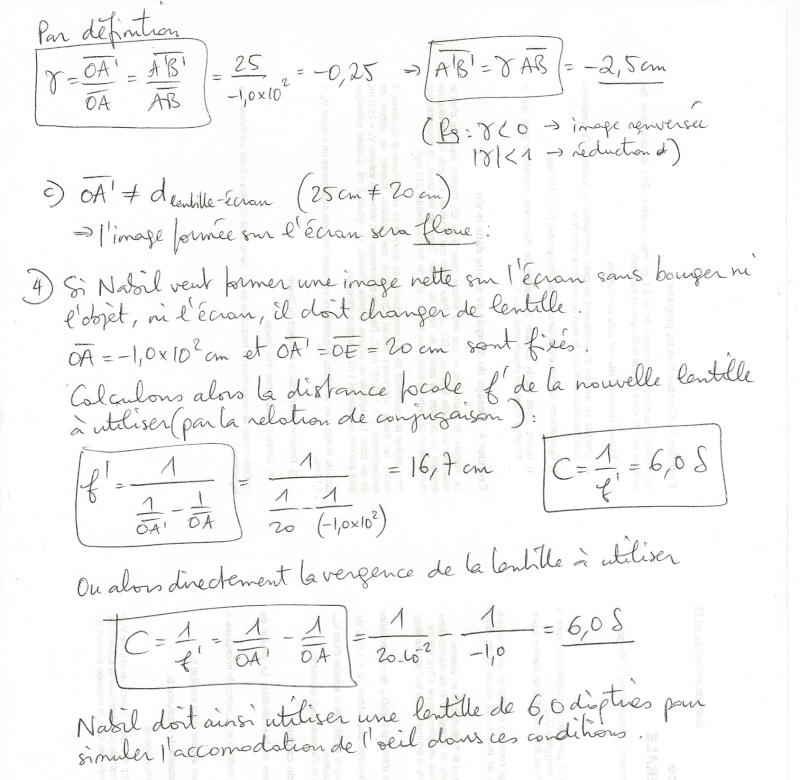 Corrigé TD n°2 : Modélisation de l'oeil Numyri18
