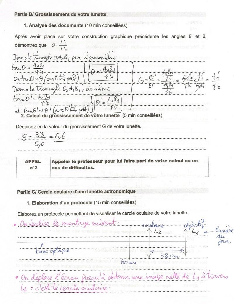 Corrigé du TP n°3 : Lunette astronomique Numyri62